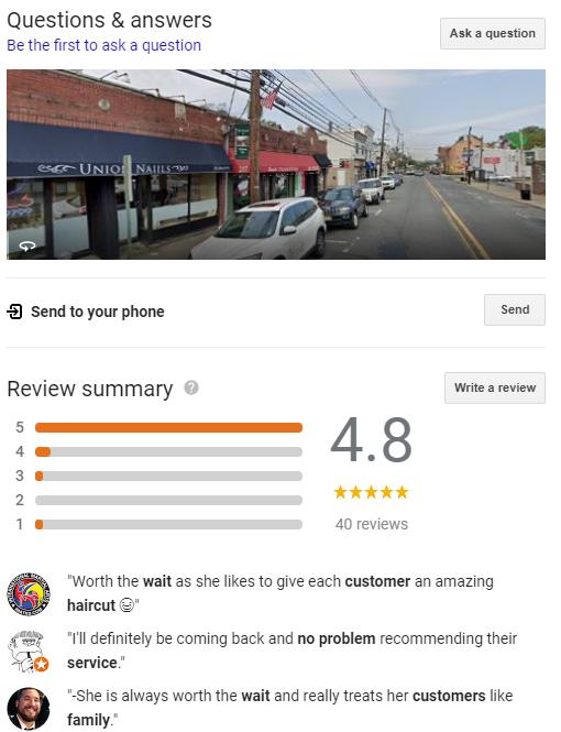 Google Local QnA's