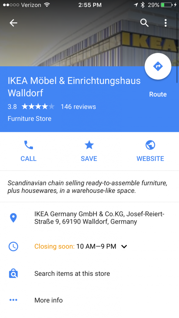 Google Listing Local Inventory Search